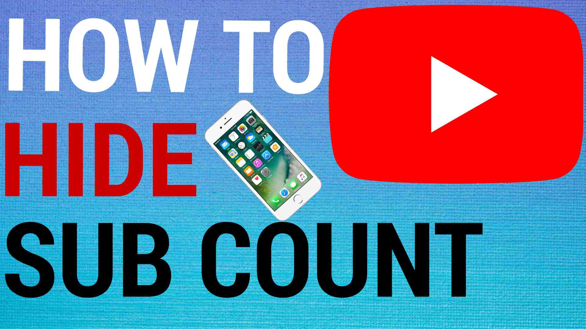 how to hide youtube subscriber count
