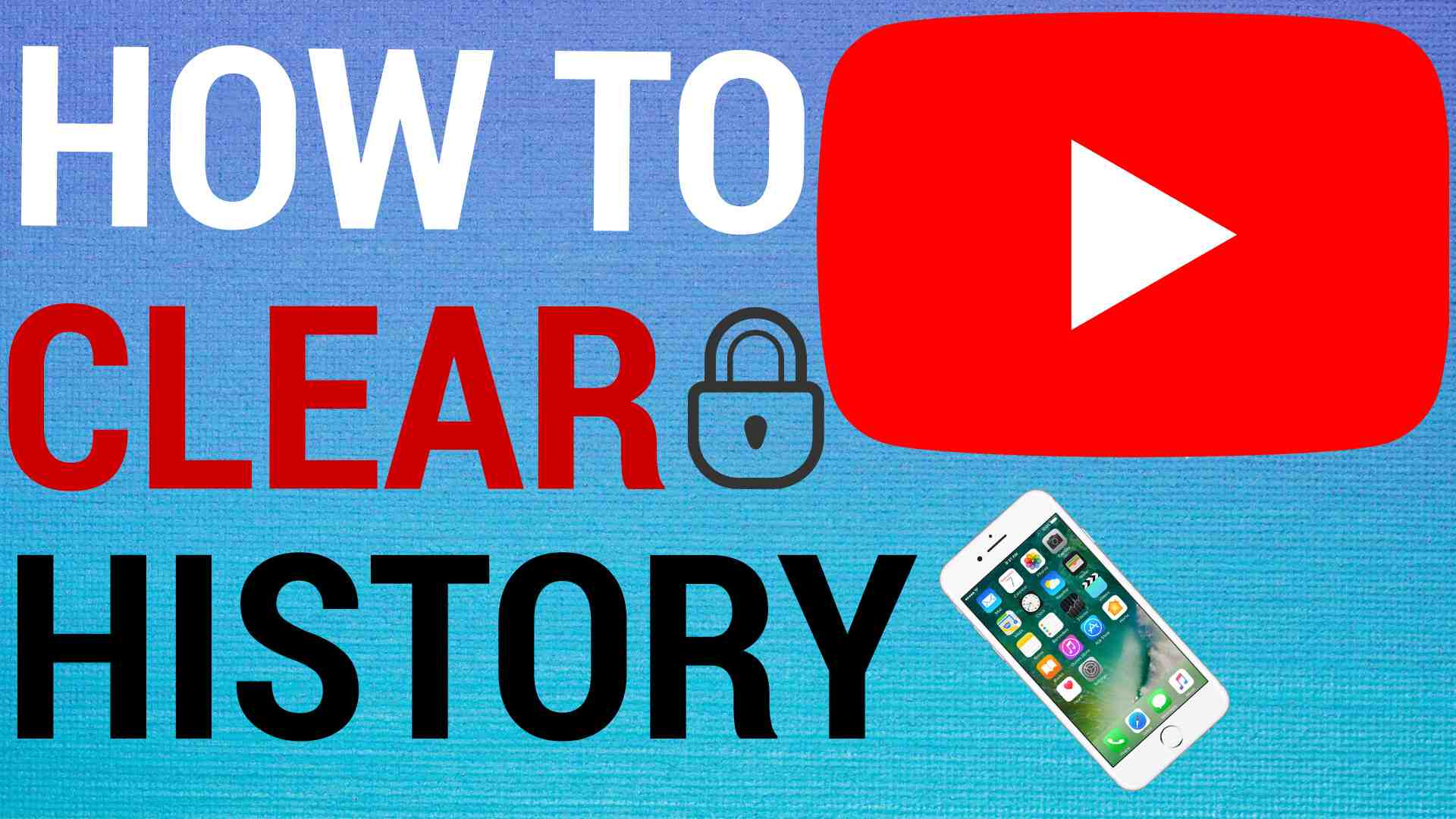 how to clear youtube history on mobile