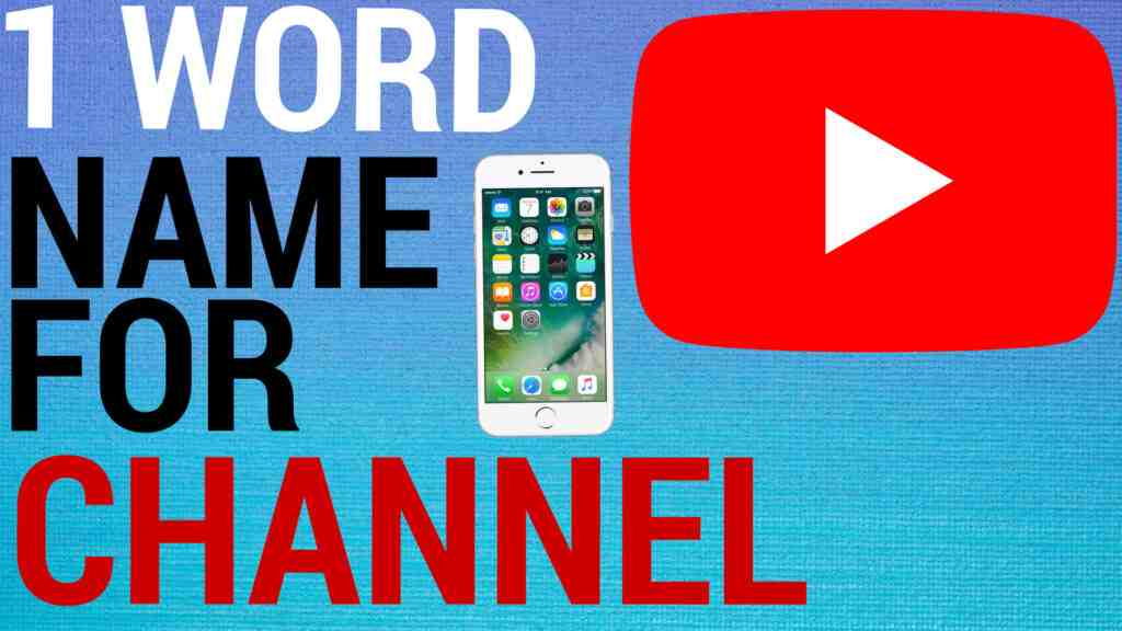 1 word name for channel