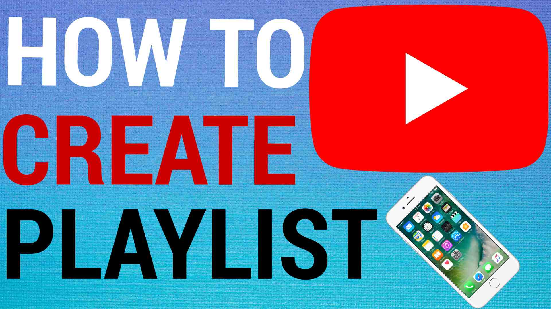 How to create youtube playlist