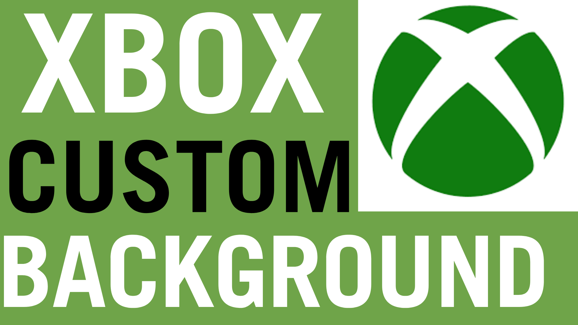 how to get custom background image on xbox one