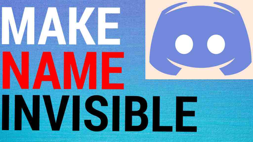 How To Make Discord Username Invisible