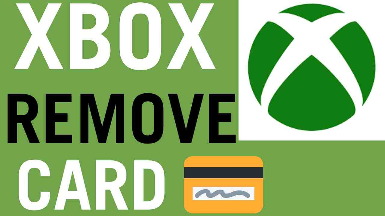 How To Remove Credit Card From Xbox One