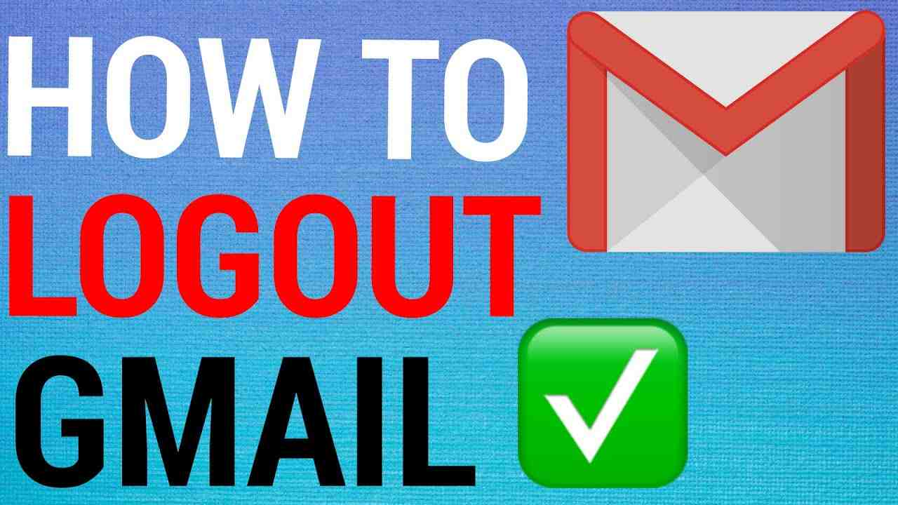 how to sign out of gmail on mobile