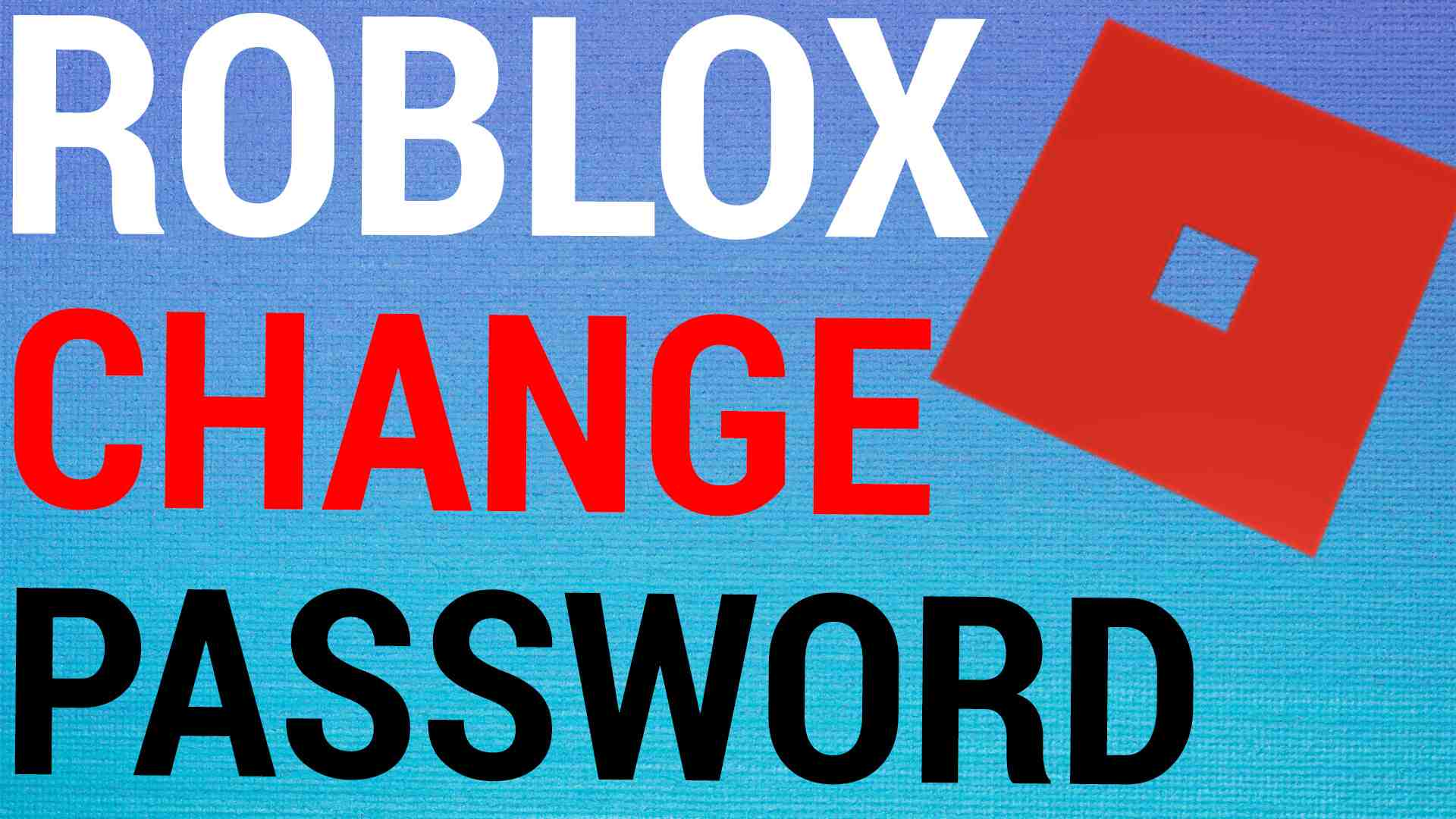 How To Change Roblox Password