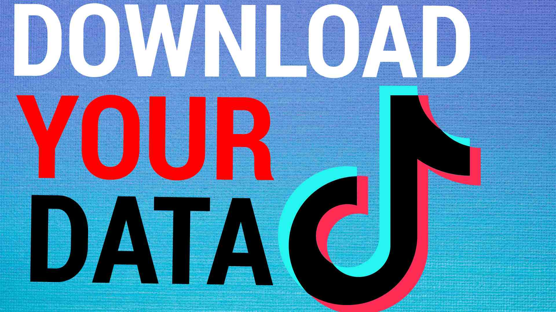 How To Download All Your TikTok Data