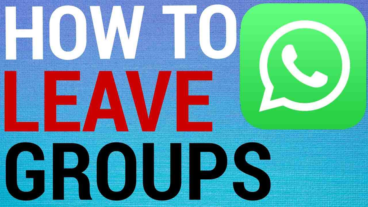 How To Leave Groups on WhatsApp