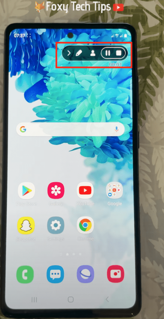 how to use built in screen recorder on android