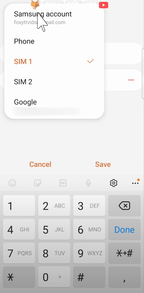 Samsung how to add contacts