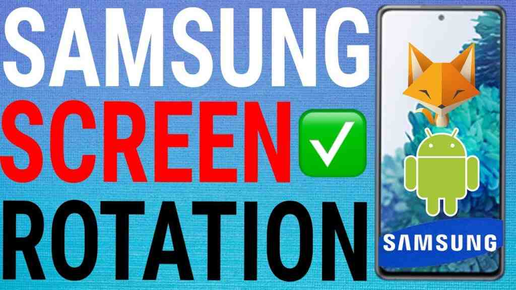 how to turn screen rotation on or off samsung galaxy